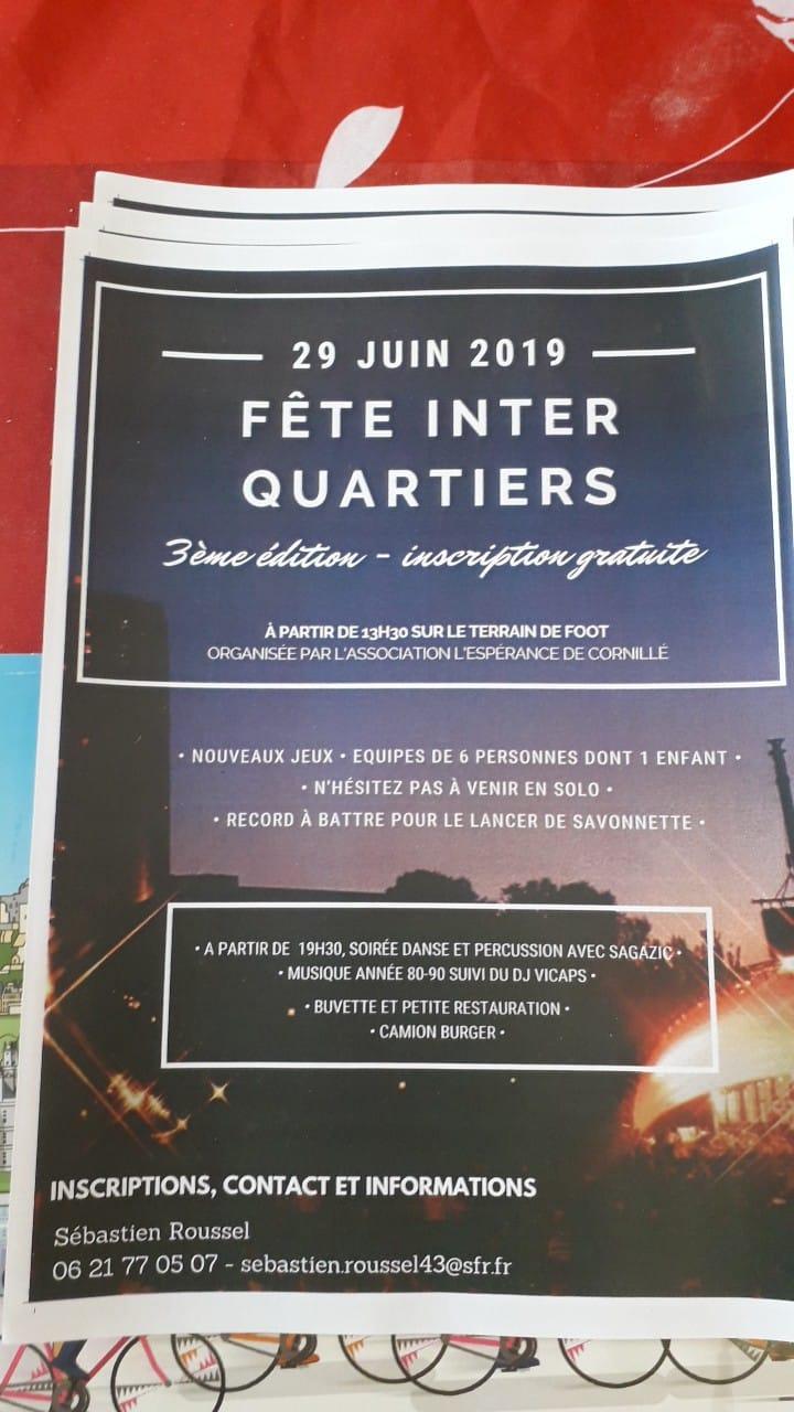 Fête inter quartiers Cornillé 2019