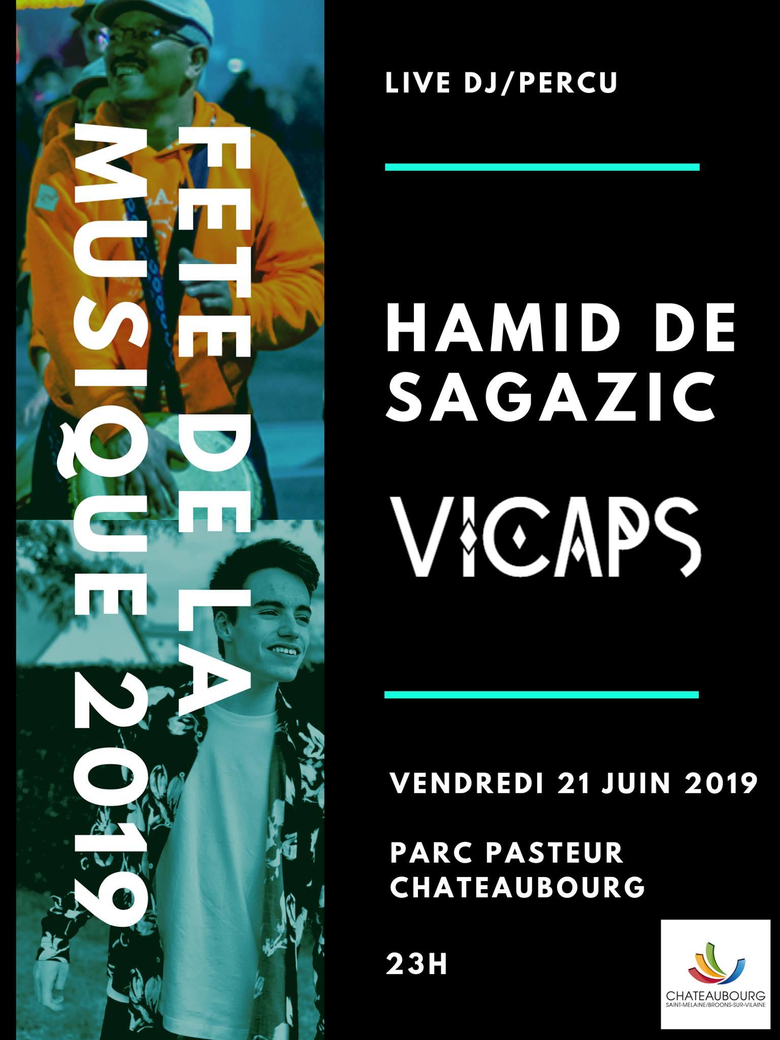Affiche concert Dj Vicaps x Hamid